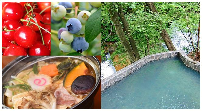 『夏のフルーツ狩り』と『日帰り温泉』で水上満喫一日コース