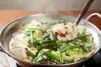 4種の味が楽しめる絶品もつ鍋