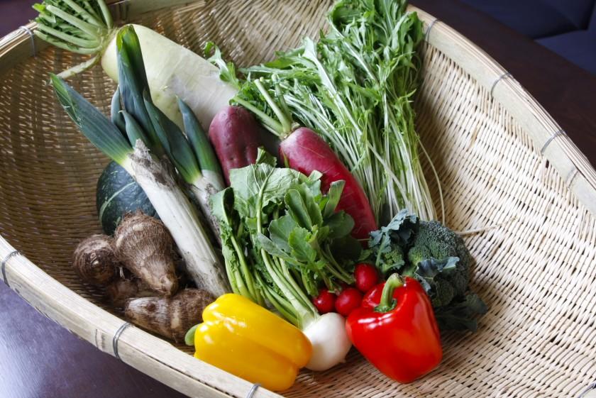 榛名の実家で栽培される低農薬野菜を使用
