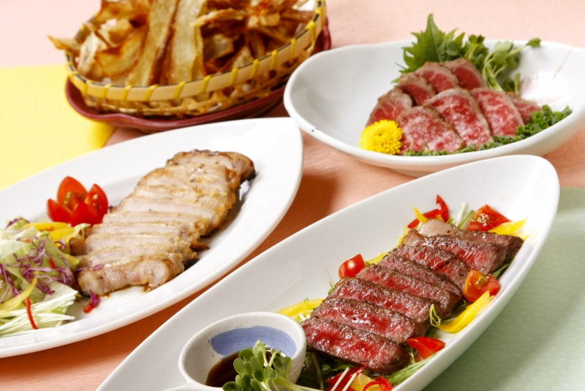 上州牛などの地元群馬の美味しい食材を使用