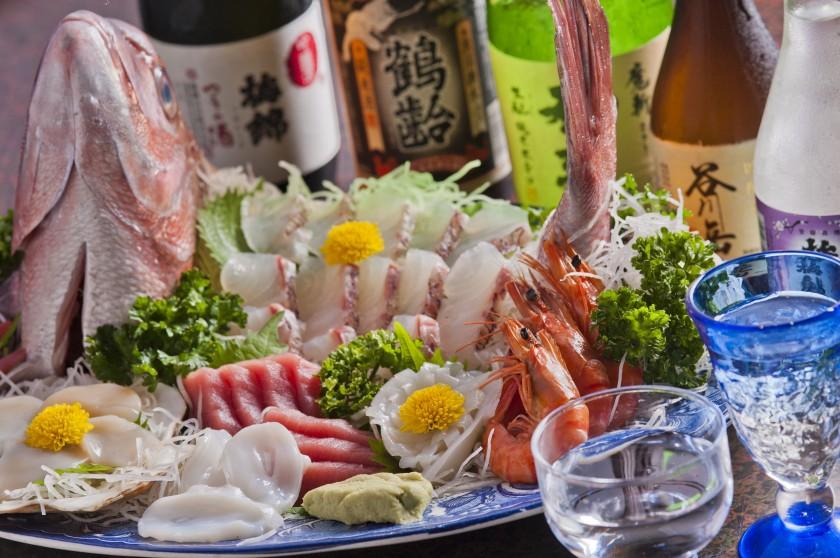 旬の一番美味しい魚介類を提供