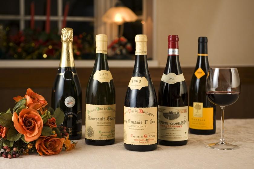 バリエの料理に合わせて揃えたフランスワイン