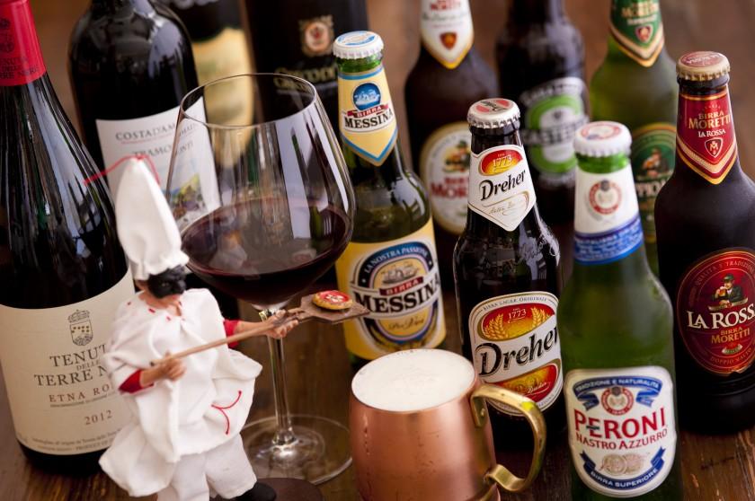 南イタリア産ワインとイタリアビールを種類豊富に