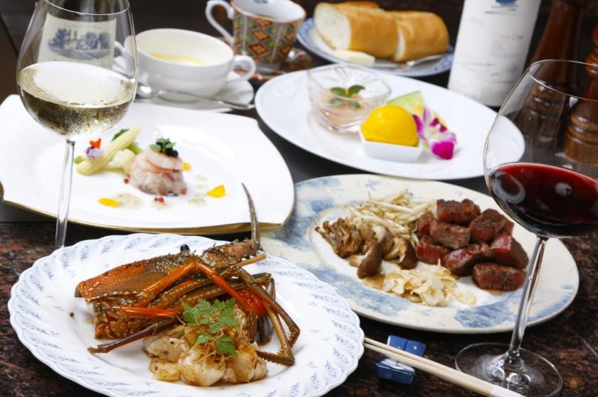 最高級の牛肉・海鮮とワイン