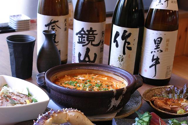 オーナー厳選の日本酒の品揃え