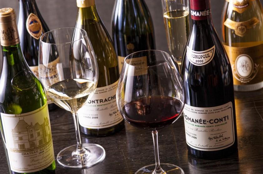 フランス5大シャトーワインや、ロマネ・コンティ、ペトリュス等のプレミアムワイン