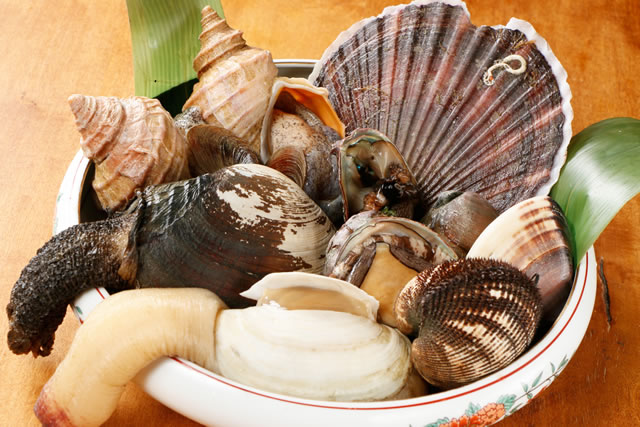 一年を通して楽しめる生牡蠣や豊富な貝類